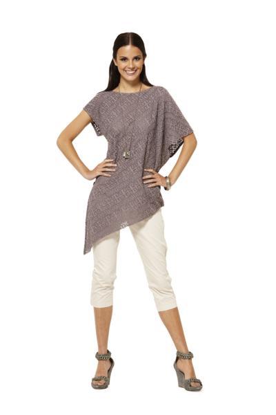 Описание: выкройки блузы из трикотажа.