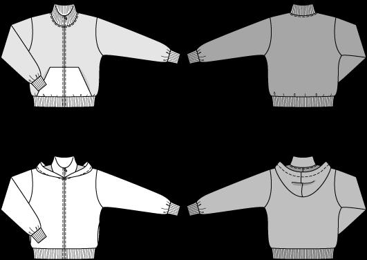 Технический рисунок выкройки Burda